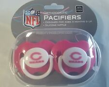 Chicago Bears PINK Baby Infant Pacifiers NEW - 2 Pack SHOWER GIFT! girls
