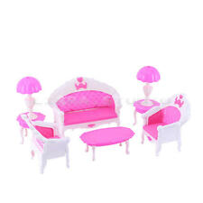 Furniture Living Room Parlour Sofa Set Barbie Dollhouse Accessories Doll Toy