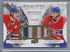 2015-16 Exquisite Hockey Pacioretty-Galchenyuk Materials Combo Dual Patch #47/49