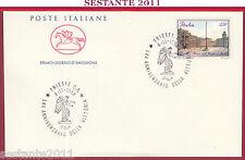 ITALIA FDC CAVALLINO ANNIVER. VITTORIA TRIESTE PIAZZA UNITà D'ITALIA 1988 Z486