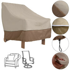 Waterproof High Back Patio Single Chair Cover Protection Furniture Beige Coffee