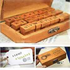 30pcs New Wooden Multipurpose Lowercase Letter Alphabet Wood Rubber Stamp Seal