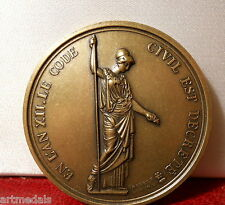 NAPOLEON JUSTICE LAW THE CIVIL CODE FRENCH BRONZE ART MEDAL