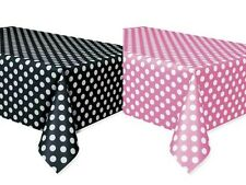 Set of 2 Minnie Mouse Polka Dots Table Covers Pink & Black Birthday Mickey Baby