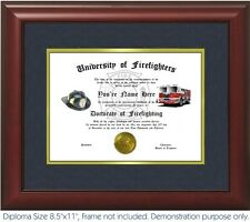 Firefighting Diploma - Personalized with your Name/Date- Best on eBay. Fire