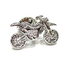 Silver Plated Dirt Bike Design Lapel Pin Badge Smart Biker Badges Off Road New