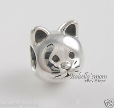 NEW Genuine PANDORA Sterling Silver CURIOUS CAT Kitty Face PET Charm/Bead 791706
