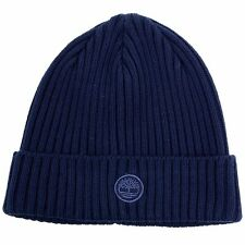 Timberland Men's Fitted Sapphire Knit Watch Cap Beanie Hat (One Size Fits Most)