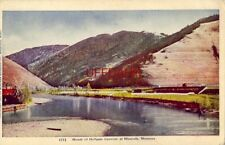 MOUTH OF HELLGATE CANYON, MISSOULA, MT. 1920 embossed
