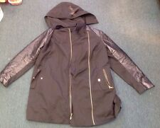Michael Kors Xl Leather Jacket Removable Hood Small Bleach Stain