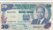 Billet banque KENYA 20 SHILLINGS 01-01-1982 état voir scan 201