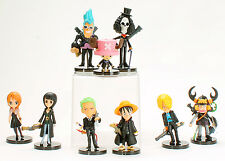 One Piece Strong World Figures Luffy Nami Sanji Choppe Zoro Usopp Toy Black Suit