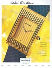 ▬► PUBLICITE ADVERTISING AD MONTRE WATCH Vouloir BOUCHERON (b) 1992