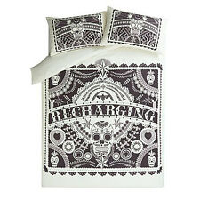 Double Duvet Set Bedding Bed Set Day of The Dead Mexican Sugar Skull Black White