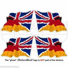 ALLEMAGNE Royaume-Uni Vol Drapeau Allemand Union Jack Autocollants 50mm x4