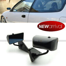 For 94-97 Accord F1 Manual Adjustable Glossy Black Finish Side View Mirror