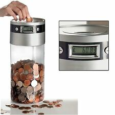 Supersized Digital UK Coin Bank Money Saving Jar Large LCD Display