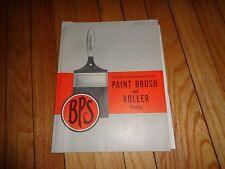 Patterson-Sargent Company Paint Brush and Roller Catalog Vintage