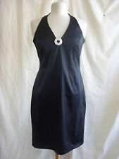 Ladies Dress - Red Herring, size 12, black halterneck, sexy, party, stretch 8265
