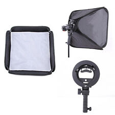 "24"" 60cm Softbox + S-Type Bowens Mount Flash Bracket Speedlite Handheld Grip Kit"