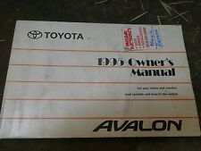 1995 TOYOTA AVALON OWNER'S MANUAL, GUIDE, SUPPLEMENT, CD, XLS PRICE LIST, 9TOTAL
