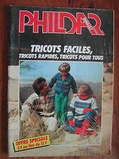Catalogue PHILDAR Mailles de 1982- Tricots faciles - Famille