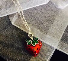 Strawberry Charm Necklace18inch