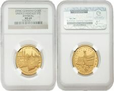Germany 2004-G Unesco Heritage Site Bamberg 100 Euro Gold NGC MS-69