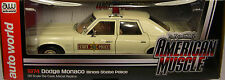 AUTOWORLD 1:18 SCALE DIECAST METAL ILLINOIS STATE POLICE WHITE 1974 DODGE MONACO