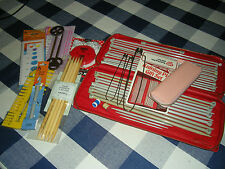 VINTAGE AERO KNITTING NEEDLE CASE  14 PAIRS  KNITTING NEEDLES 30CM PLUS EXTRAS