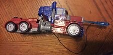 "Vintage Optimus Prime 6.5"" TRANSFORMER Semi Truck Plastic with shooting harpoon"