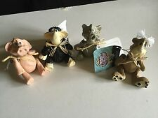 Encore Noah's Ark 4 Figurines by Kathleen Kelly, moveable arms and legs, NEW