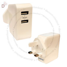 2 Port 12W 0A-2.4A Fast Multi USB Wall Charger UK Plug Power Adapter UKDC