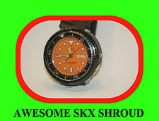 seiko mod 7s26, SKX 007, 009 clip-on shroud ,DURABLE PLASTIC  tuna 3 screws 7002
