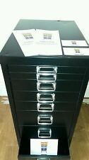 ☆ Home Office Bedroom Executive Multi 8 Draw Metal Storage Filing Cabinet