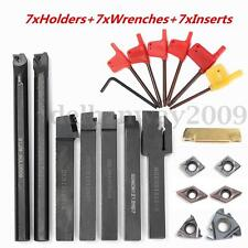 7PCS Set Of 12mm Lathe Turning Tool Holder Boring Bar + DCMT CCMT Carbide Insert