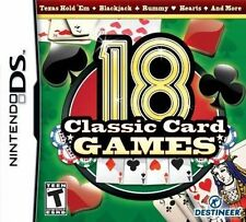 18 Classic Card Games RE-SEALED Nintendo DS DSI XL LITE 3 3DS 2 2DS GAME