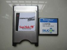 SiliconDrive  128MB Compact Flash +ATA PC card PCMCIA Adapter JANOME Machines