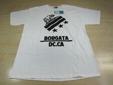 """BORGATA DC """"CALI"""" BEAR TEE SHIRT NEW WHITE BLACK LARGE L CA"""