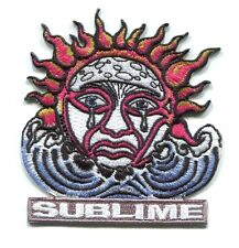 SUBLIME crying sun EMBROIDERED IRON-ON PATCH p4095 40 oz to freedom *Free Ship*