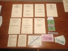 Reproduction WW2 German Luftwaffe Paratrooper Document Group