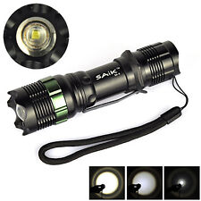 7W 900LM Waterproof Zoomable Q5 LED Flashlight 18650/AAA SA-9 Outdoor Torch Lamp