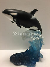 The Leaping Orca Killer Whale sculpture figure statue home decor collectible