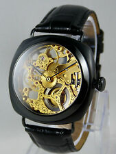 Piece unique Montre coussin squelette UNITAS 6497 skeleton custom watch uhr