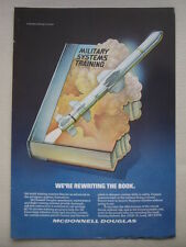 4/1987 PUB MCDONNELL DOUGLAS MILITARY SYSTEMS TRAINING HARPOON MISSILE AD