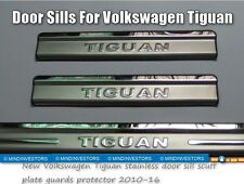 New Volkswagen Tiguan stainless door sill scuff plate guards protector 2010-17