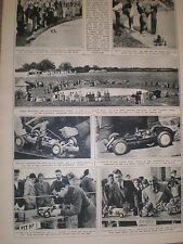 Photo article model car racing Stanbridge aerodrome Leighton Buzzard 1946 ref Z2