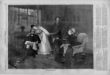 The Only Daughter  -  With Poem  -  Young Lady and Family  -   1875