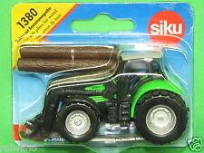 Siku Super Serie 1380 Deutz Agrotron Traktor mit Baumstammgreifer