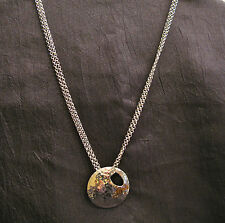 Sterling Silver Hammered Circle Pendant Multi Chain 18'' Necklace - QVC